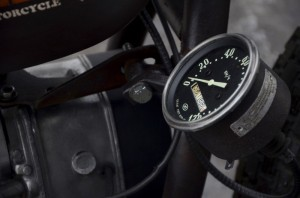a speedometer installed on a custom Dnipro MT