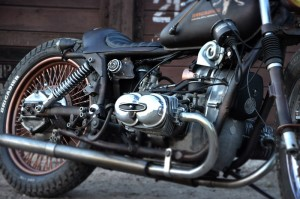 a closer look at a custom cafe-racer
