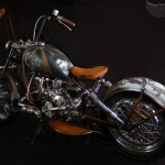 the left side of this custom Ural motorcycle