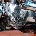 a customized cover of a gear box on Ural