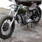 the front part of this custom Ural motorcycle