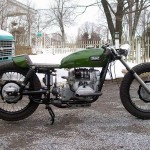 the right side of the custom Ural racer