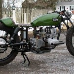 a view on the custom Ural racer