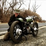 the Ural racer with its creator