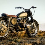 the right side of the scrambler made from an Ural motorcycle