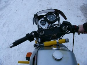 the virus - a custom sport motorcycle made from an Ural