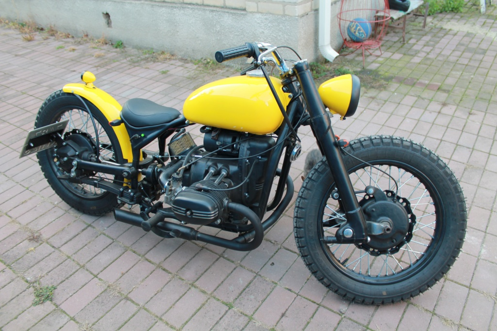 A Custom Bobber Built From A Ural Motorcycle