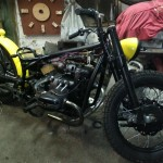 assembling a custom bobber made from an Ural