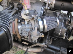 here is how a CV carb should be installed on a Dnepr MT