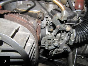 a CV carb mounted on a K-750 motorcycle
