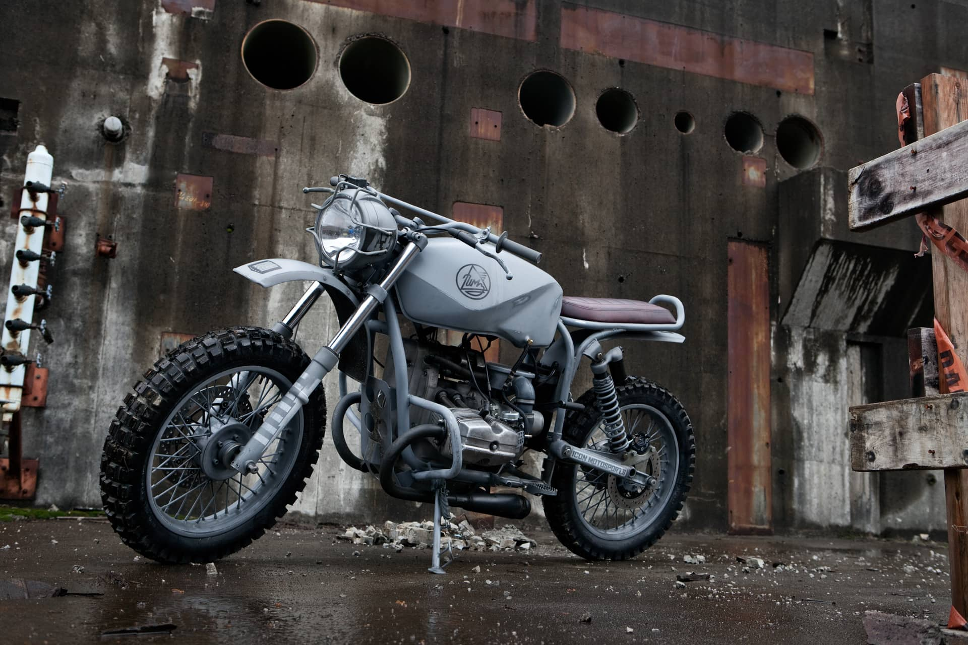 The Quartermaster - a custom Ural scrambler from the Icon