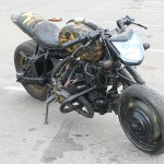 a rat bike built from a cossack motorcycle