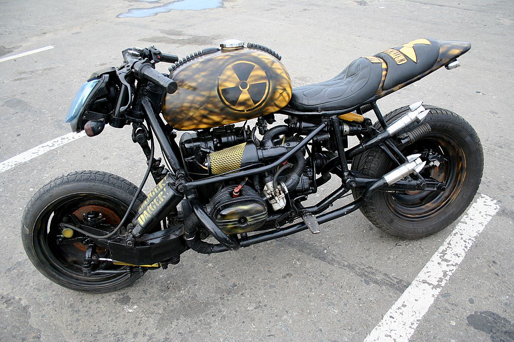 a rat bike built from an Ural motorcycle