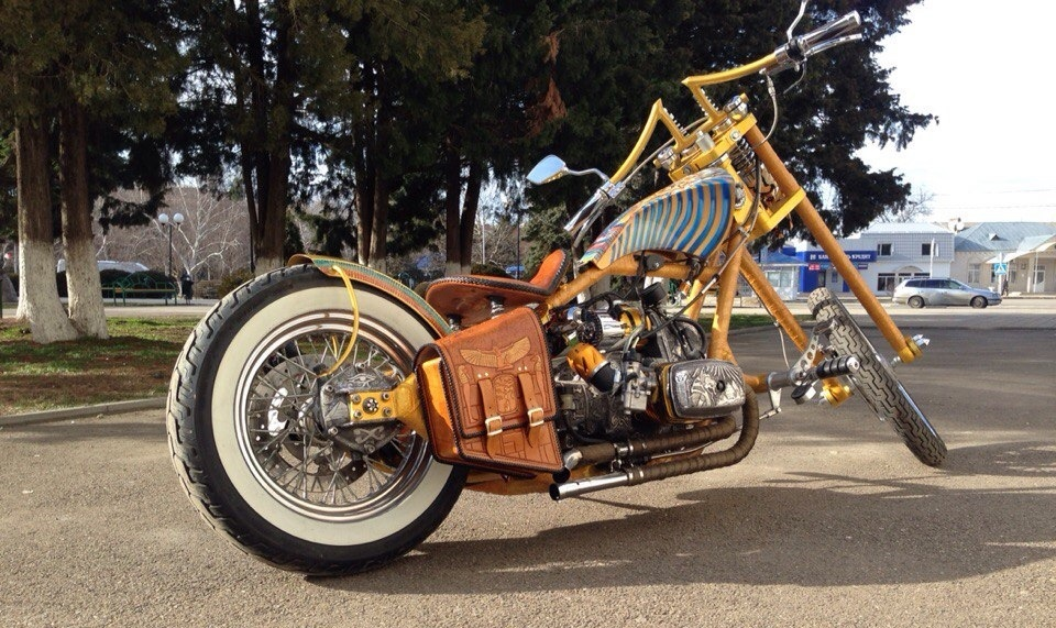 a nice custom chopper made from a Dnipro MT