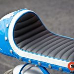 a custom seat installed on this Minsk bike