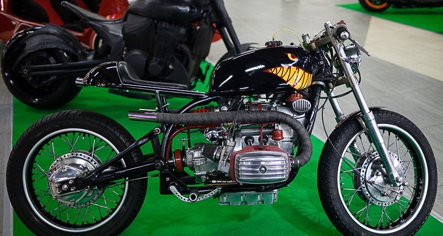 a nice cafe racer built from a Dnipro MT