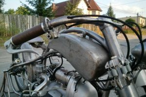 the handlebar installed on the Bit of Freedom motorcycle