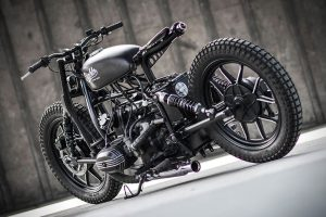 the tail of the Diablo motorcycle
