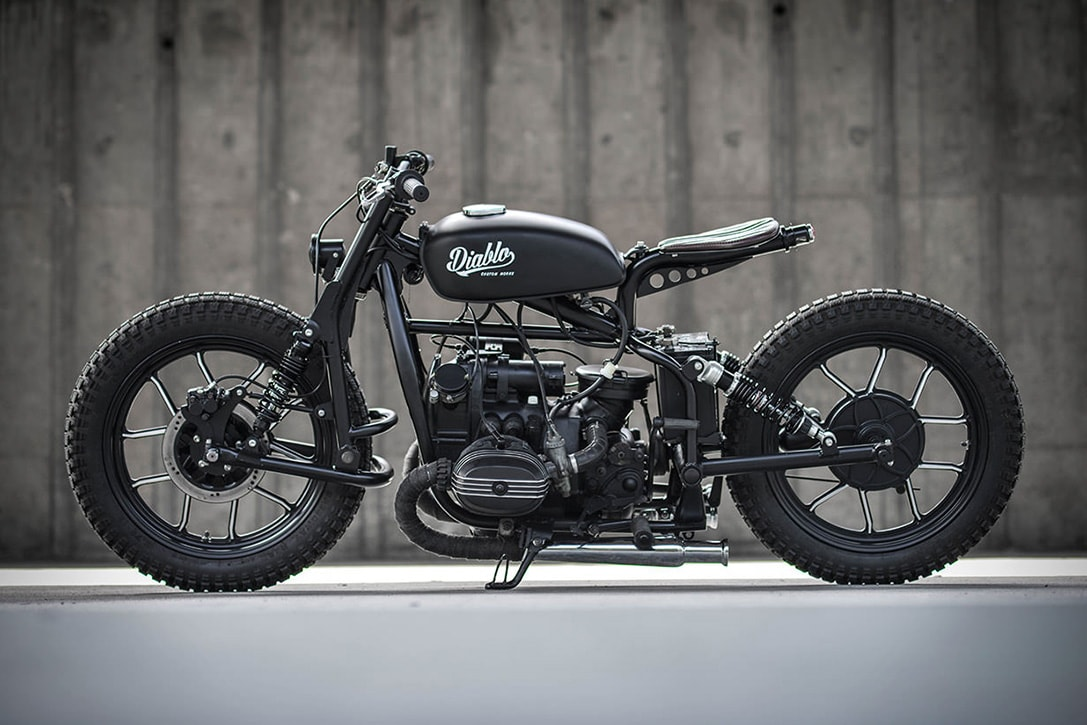 a custom Ural motorcycle from the K-Speed team