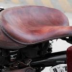 a nice custom leather seat